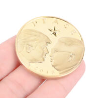 US President Donald Trump & Kim Jong-un Peace Gold Plated Challenge Coin AU##