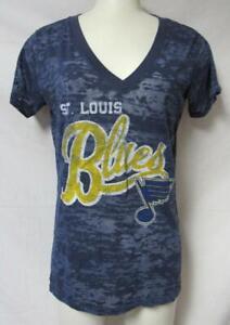 St. Louis Blues Women's Size Medium Sheer V-Neck T-Shirt A1 3572