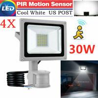 4X 30W PIR Motion Sensor Flood Light Outdoor Waterproof LED Lights Security Lamp