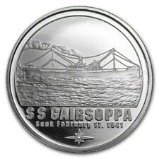 1 oz Silver Round  SS Gairsoppa Certified Shipwreck Silver in capsules (LMT QTY)