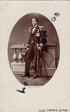 Postcard of the late Captain Byron Royal Navy wears China Wars & Crimea Medal ?