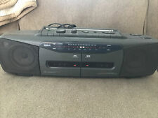 Vintage Rca Model Rp-7768A Am/Fm Stereo Radio Dual Cassette Boom Box - Tested