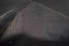 "Black Coated Outdoor Marine UV Mesh Boat Seat Fabric PVC Polyester 60""W DWR FR"