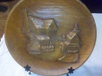 "Vintage Cottage 10"" Figural 3D Wall Hanging Plate by Multi Prod Inc U.S.A."