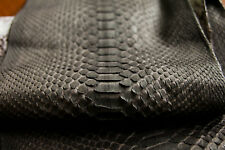 Genuine Reticulated Python Leather Hide Snake Skin Pelt Dark Brown