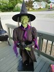 Gemmy Life Size Animated Halloween Spirit Animatronic RARE Candy Tray Witch Prop