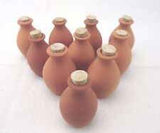 10 FOR PRICE OF 6 TERRACOTTA FRESH FRAGRANCE JARS WITH CORK >GREAT RE-SALE VALUE