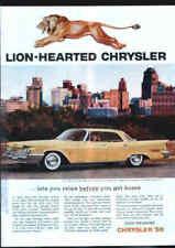 CHRYSLER 1959 New Yorker 4-door Yellow Hardtop ad