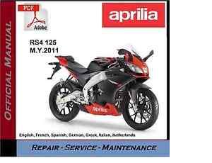 Aprilia RS4 125 2011 onwards Workshop Service Repair Manual