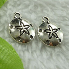 free ship 520 pieces tibet silver flower charms 15x12mm #2794