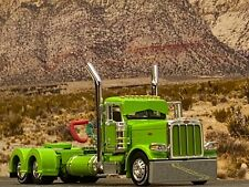 1/64 DCP LIME GREEN PETERBILT 389 DAY CAB