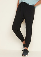 Old Navy High-Waisted Lightweight Jogger Pants Small Black NEW 613492 HBX6