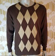Vintage Gianfranco Ruffini Italy Classic Argyle Men's Sweater V-Neck Size Large