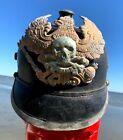 GERMAN Prussian WWI PICKELHAUBE Army Helmet WW1 DATED1916 Liner Rep DEATHS HEAD