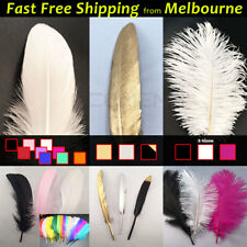 BULK Goose Ostrich Feathers Costume Wedding Party Decorations White Gold Black..