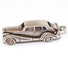 """Vintage Sterling Silver Bracelet Charm Opening Rolls Royce Limosine Larger 1"""""""