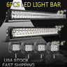 """42Inch LED Light Bar Combo + 30in +4"""" CREE PODS OFFROAD SUV 4WD ATV FORD JEEP 20"""