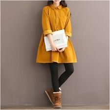 Vintage Elegant Japanese Sweet Lolita Mori Girl Autumn Long Sleeve Loose Dress