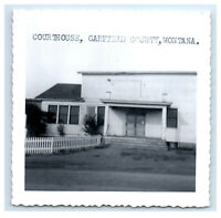 Photo 3.5 x 3.5 inches Courthouse, Garfield County, Montana MT H42
