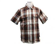 A BATHING APE / short-sleeved flannel shirt Brown L not use [pre]