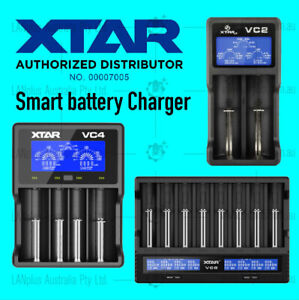 Xtar VC2 VC4 VC8 Smart USB LCD 18650 Lithium Battery Charger for 26650 14500