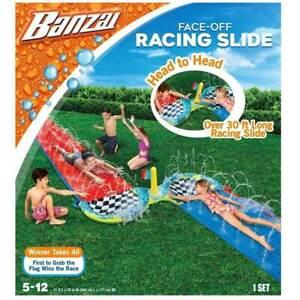 BANZAI Face-Off 30ft Racing Slide ( 5-12 yrs )