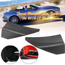 For Ford Mustang 2015-2020 Front Bumper Corner Spoiler Winglet Splitters ! !!