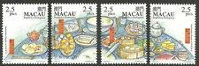 China Macau - Gastronomie in Macau Satz 1999 postfrisch Mi.1042-1045
