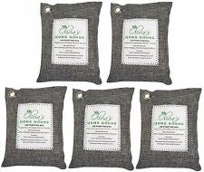 Nature Fresh Air Purifier Bag Style Charcoal Bamboo Purifying Mold Odor 200g 5Pk