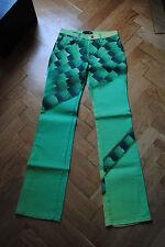 Hose Jeans Cavalli ohne Worte bunt tolle Grüntöne W28 gleich Größe 36 Luxus