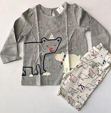 BABY GAP Girls Polar Bear Shirt Top Leggings Outfit Set NEW NWT 12 18