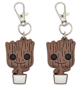 Groot Collar Charm Zipper Pull Badge Reel or Purse Accent Set of 2
