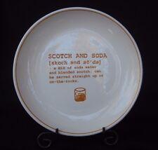 "Pottery Barn ""Cocktail Refined"" Edition 8"" Plate ""Make a Scotch & Soda"" 1 pc."