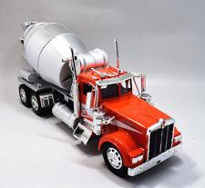 Newray 1:32 Kenworth Cement Mixer Concrete Semi Metal Truck Model Red