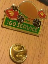 Vintage 60: Seconds Service Racecar McDonalds Fastfood Pinback Brooch Button Pin