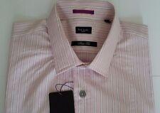 Paul Smith Shirt Size 15.5 MEDIUM SLIM FIT Pink Stripes