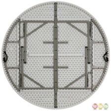 72'' Round Bi-fold Granite White Plastic Folding Table