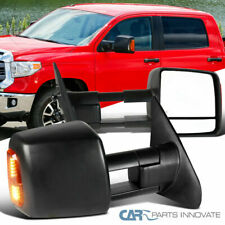 For Toyota 07-17 Tundra 08-17 Sequoia Tow Side Mirrors Power Heated+LED Signal