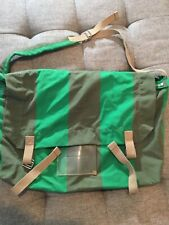 MARC by MARC JACOBS Green Stripes Canvas Cross Body Style BAG & Shoulder Strap