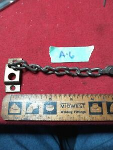 1 ANTIQUE VINTAGE BRASS COATED DOOR SECURITY CHAIN ONLY A6