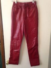 Red Leather Pant