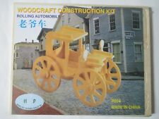 Rolling Automobile Woodcraft Construction Kit New Sealed And Unopened.