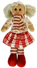 Christmas Rag Doll by Powell Craft Cream Snowflake Jumper & Scarf Large 40cm