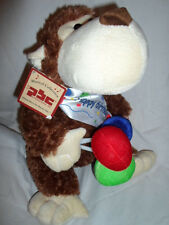 "PBC Musical Collection Happy Birthday Monkey 12"" Plush Soft Toy Stuffed Animal"