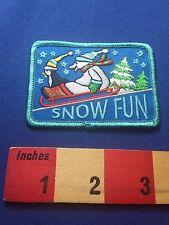 Winter Snow Fun Patch ~ Penguin & Polar Bear Sledding On A Sled 73Xo