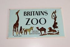 V 1:1 VINTAGE BRITAINS ZOO DISPLAY SIGN ADVERTISING '50S '60S NEAR MINT RARE!!!