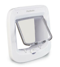Petsafe Microchip Cat Flap - White Easy to Program Door with 4 way lock.
