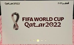 OFFICIAL FIFA WORLD CUP QATAR 2022 WHITE POST-CARD (MNH) - GOLDEN CHARACTERS !!