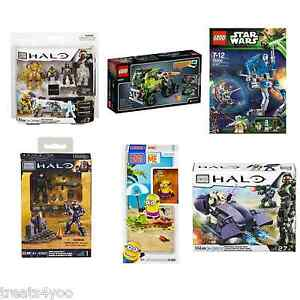 LEGO AND MEGA BLOKS TOY SETS HALO, STAR WARS, DESPICABLE ME
