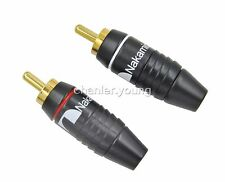 20 Nakamichi RCA Plug Audio Cable Male Connector 24K Gold Plated N0556 USA